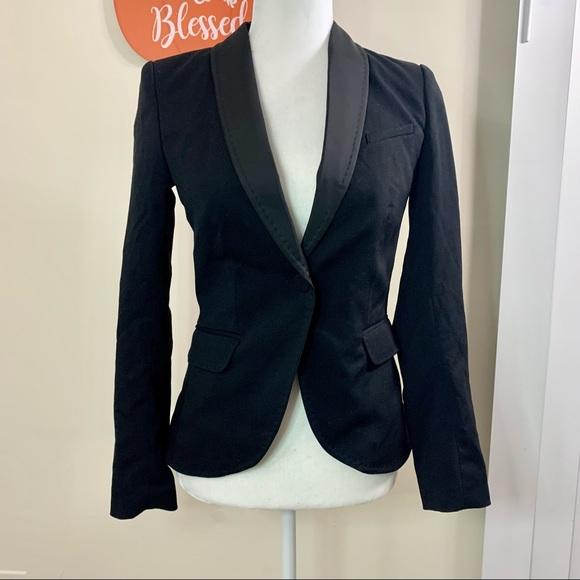 H&M Black blazer NWT long Sleeves Size 2